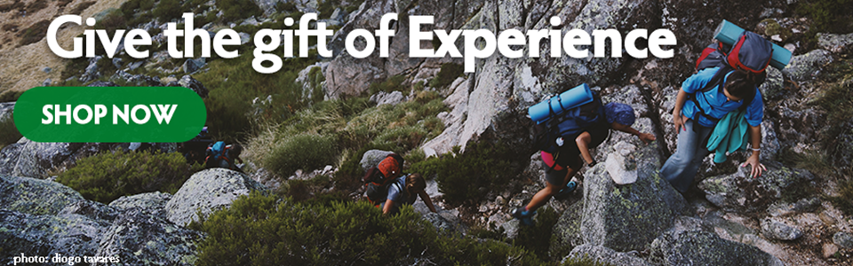 Give the Gift of Experience, Not Stuff this holiday season Image- people backpacking together