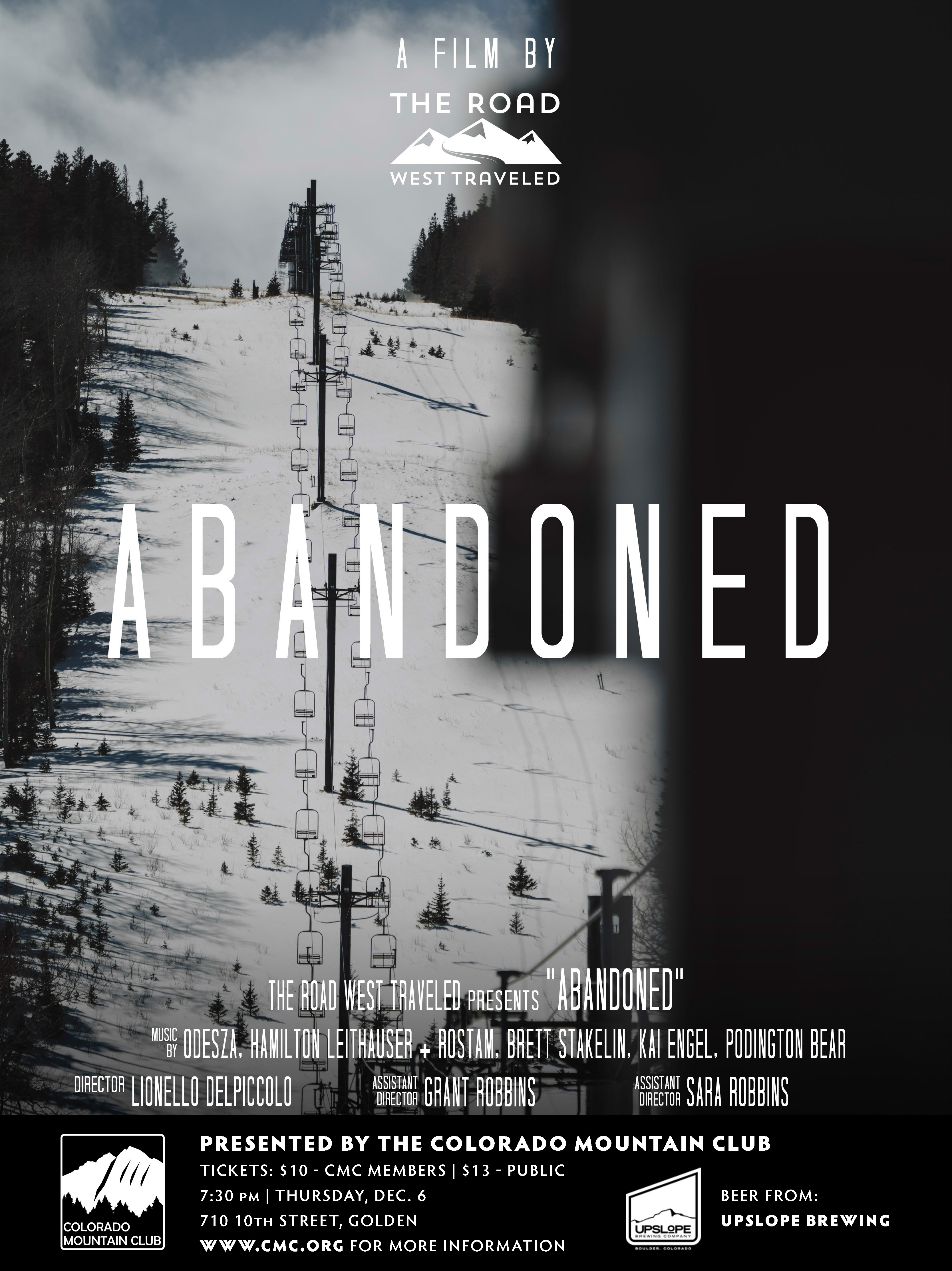 Abandoned Film Poster: Old Ski Chair Lift