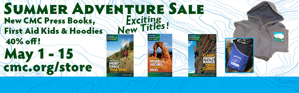 Summer Adventure Sale - save on new press book titles, first aid kits and hoodies!